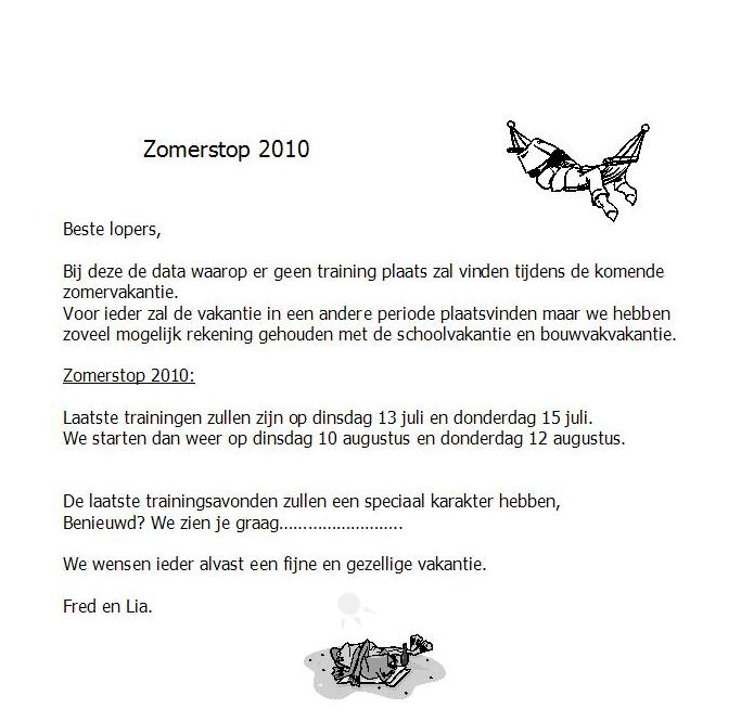 zomerstop 2010
