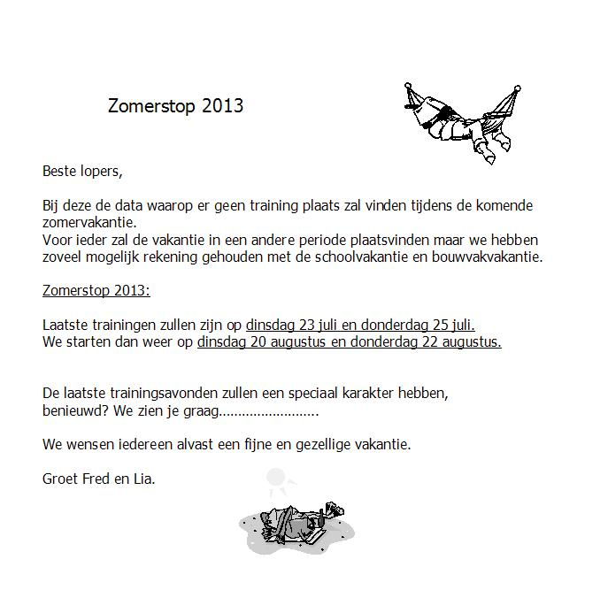 zomerstop 2013